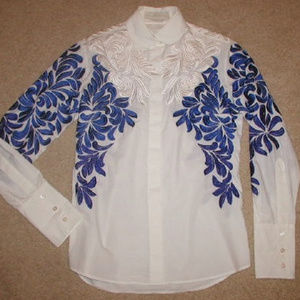 RARE Stella McCartney embroidered shirt blouse